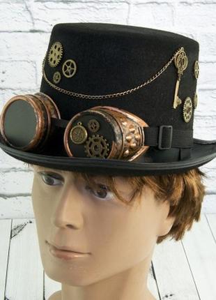 Шляпа маскарадная цилиндр стимпанк механик джордж