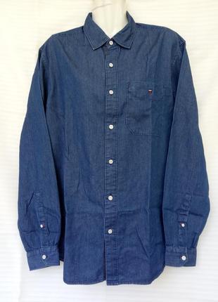 Молодежная джинсовая рубашка