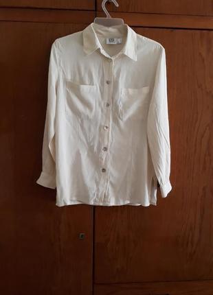Шёлковая блузка, рубашка  с длинными рукавами