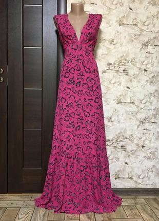 Роскошное натуральное платье в принт ulf andersson