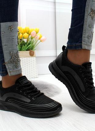 Чорні осінні кросівки