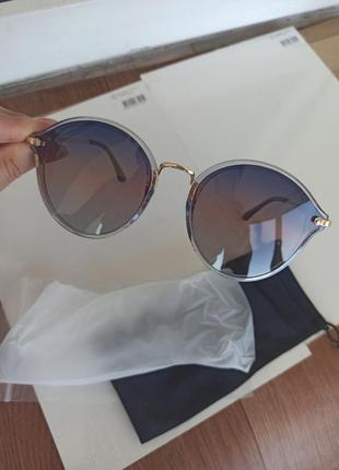 Новые очки идеальная оправа синий градиент