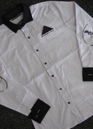 Белая рубашка мальчику р.134 - 170.