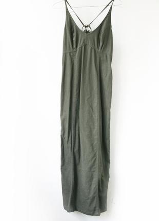 Полульняное платье