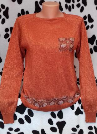 Нарядный свитер с люрексом