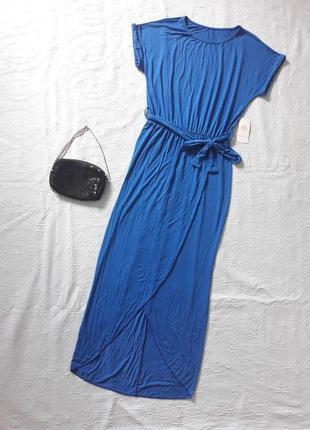Платье m fashion, длинное платье, летнее платье с разрезом, сукня літня m-l