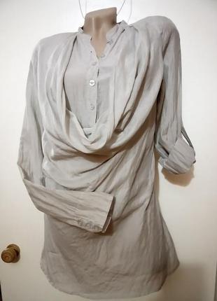 Эксклюзивная длинная рубашка туника  брендовая. hallhuber. s