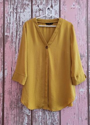Блуза красивого цвета с пуговичкой