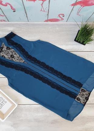 Шелковая блуза с кружевной спинкой