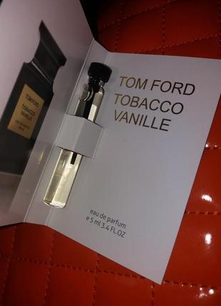 🔥🔥🔥скидка 3-дня!стойкий сексуальный пробник парфюм мини духи tom ford tobacco vanille.5мл