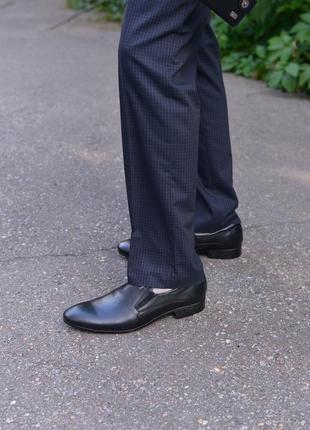 Кожаные классические туфли от производителя flamanti, шкіряні туфлі від виробника