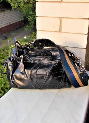 """Р.18/27 """"francesco biasia"""" италия,оригинал,sport casual/сумка,натуральная глянцевая кожа"""