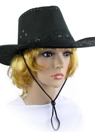 Шляпа-ковбойка черная