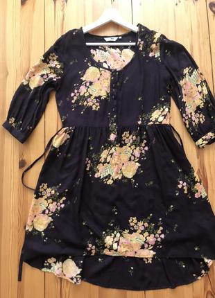 Очень красивое нарядное платье в цветы