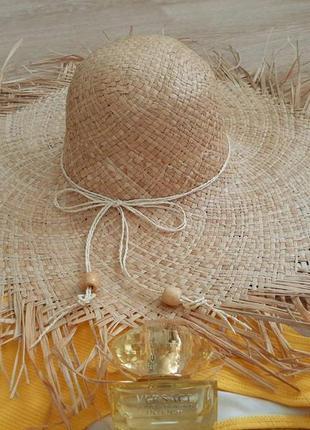 Соломенная шляпа, шляпа із соломи, жіноча шляпа, пляжна шляпа