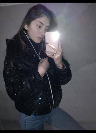 Блестящая куртка люрекс