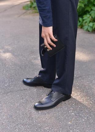 Кожаны классические туфли от производителя flamanti, шкіряні туфлі від виробника