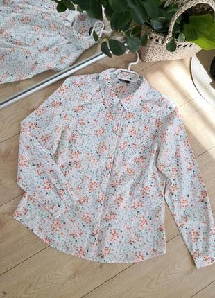 Базовая рубашка в цветочный принт