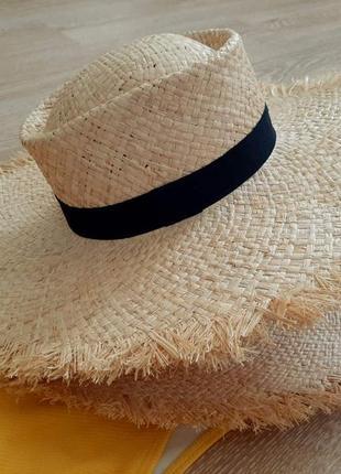 Соломенная шляпа, пляжная шляпа, шляпа из соломы, солом'яна шляпа, жіночий капелюх