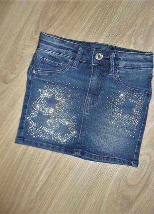 Джинсовая юбка нм на 3-4годика рост 104