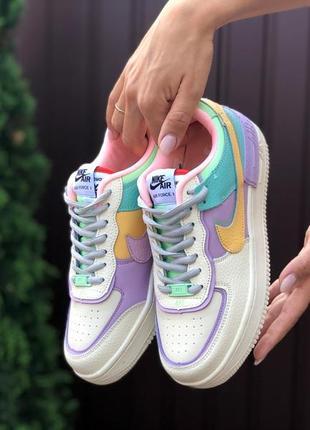 Женские кроссовки бежевые с фиолетовым р. 36-41