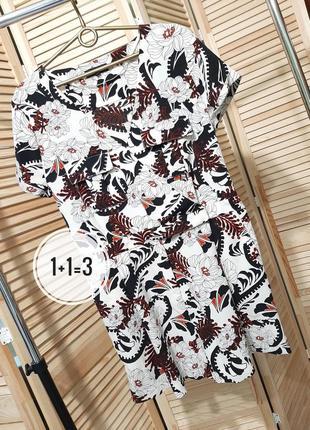 River island стильный ромпер m-l комбинезон карманы шорты узор принт стильный