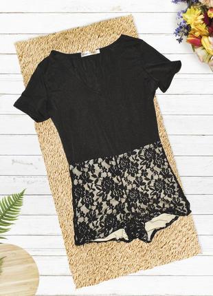 Черный ромпер с кружевами на шортах (бесплатно к любой покупке) lunice lai