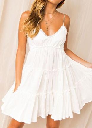 Хлопковое платье сарафан , воздушный летний сарафан pimkie, платье baby doll