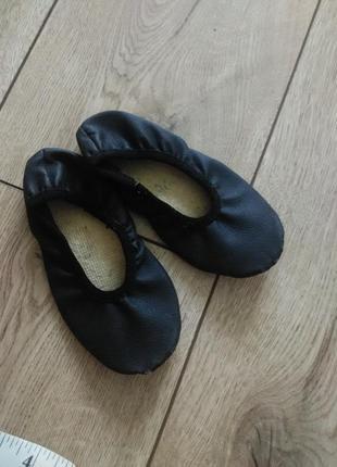 Балетки черные для хореографии, чешки для танцев, балетки в садик для девочки или мальчика
