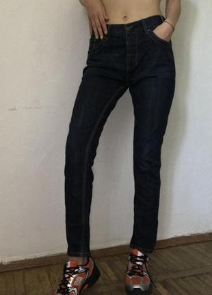 Темно синие женские джинсы