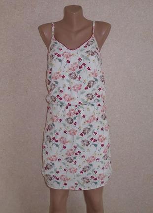 Сарафан в квіти\плаття міні\сукня\сарафан в мелкий цветочек\платье мини на бретелях