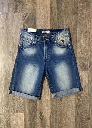 Джинсовые шорты бриджи