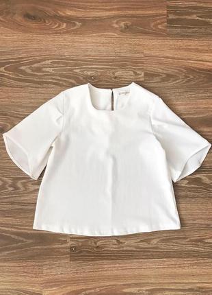 Белая блуза с коротким рукавом gloria jeans размер xs блузка в школу на учебу в офис