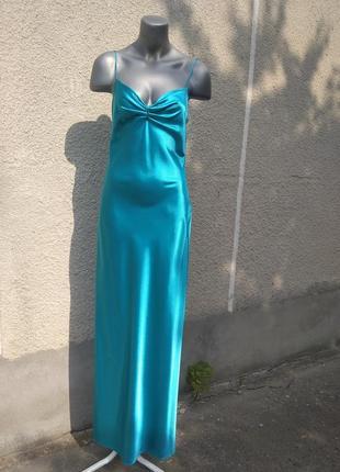 Плаття-комбінація бірюзовe shalaj
