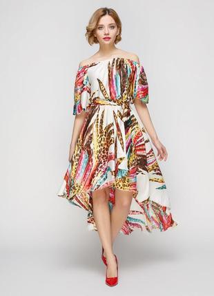 Роскошное воздушное платье плиссе со шлейфом!