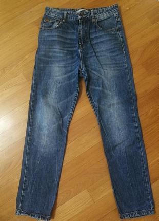Стильные джинсы zara, с завышенной талией