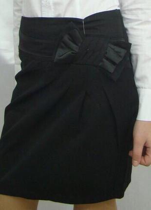 Школьная подростковая юбка с бантом №449