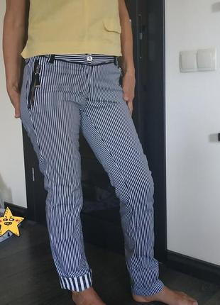 Немецкие катоновые штаны в полосочку biba