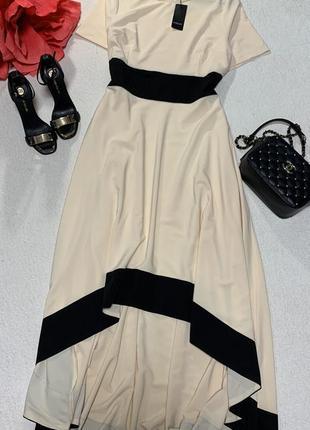Шикарное ассиметричное платье,размер l
