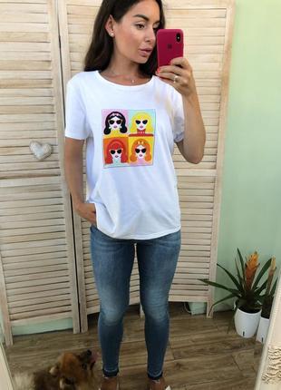 Белая футболка primark с рисунком