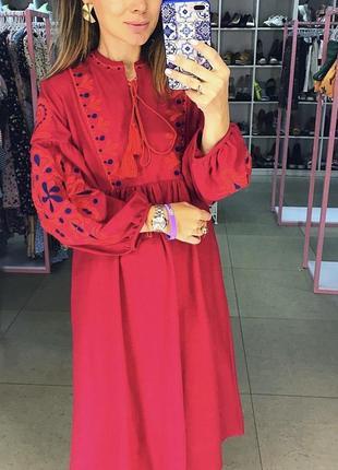 Красивая вышиванка платье с вышивкой3 фото