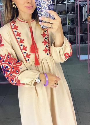 Красивая вышиванка платье с вышивкой5 фото