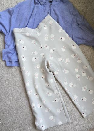 Актуальные кюлоты брюки серые зара zara