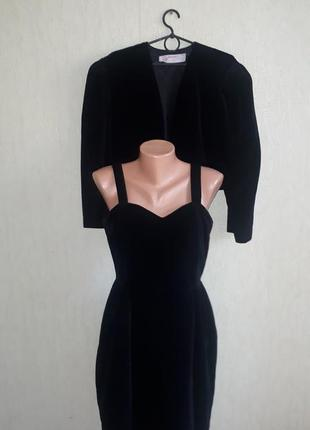 Шикарный велюровый, бархатный, винтажный костюм, ретро стиль, франция