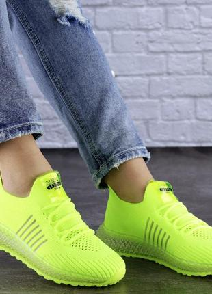 Sale💰💣 женские кроссовки салатовые neon 1473