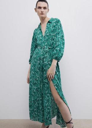 Срочно красивое платье рубашка zara новое с биркой длинное в пол massimo dutti uterque
