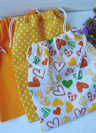 Эко мешочки 3 шт, эко торбочка, мешочек для хранения, для продуктов zero weste