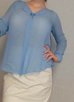 Голубая блуза из вискозы in wear 12-14 размер