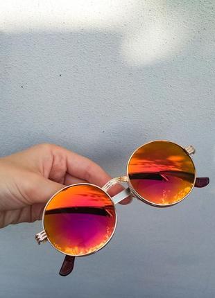 Круглые зеркальные очки