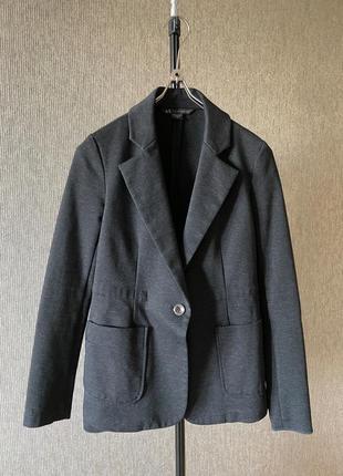 Armani exchange пиджак с карманами по фигуре стрейчевый